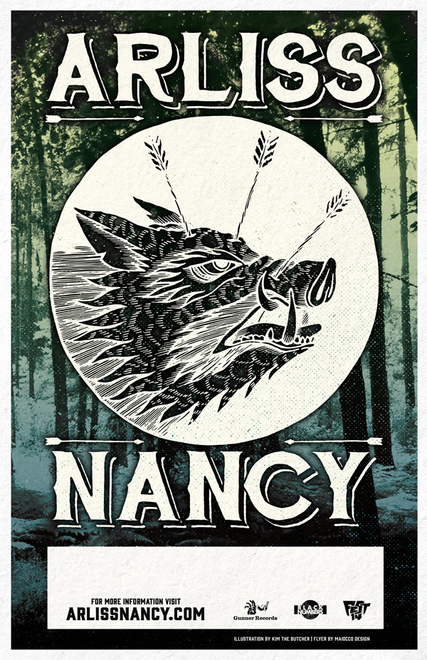 Arliss Nancy Boar Tour Poster Maiocco Design Co.