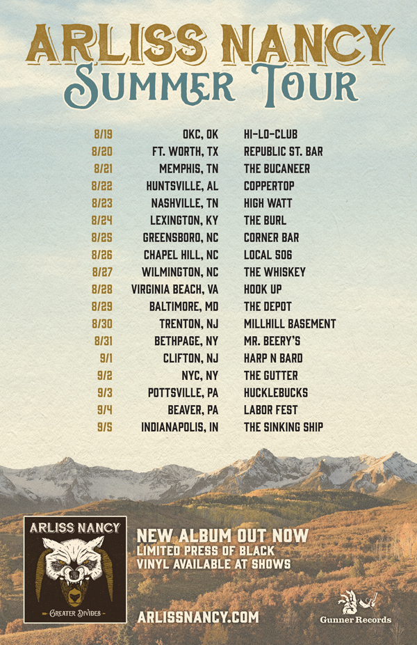 Arliss Nancy Summer Tour Greater Divides Maiocco Design Co.