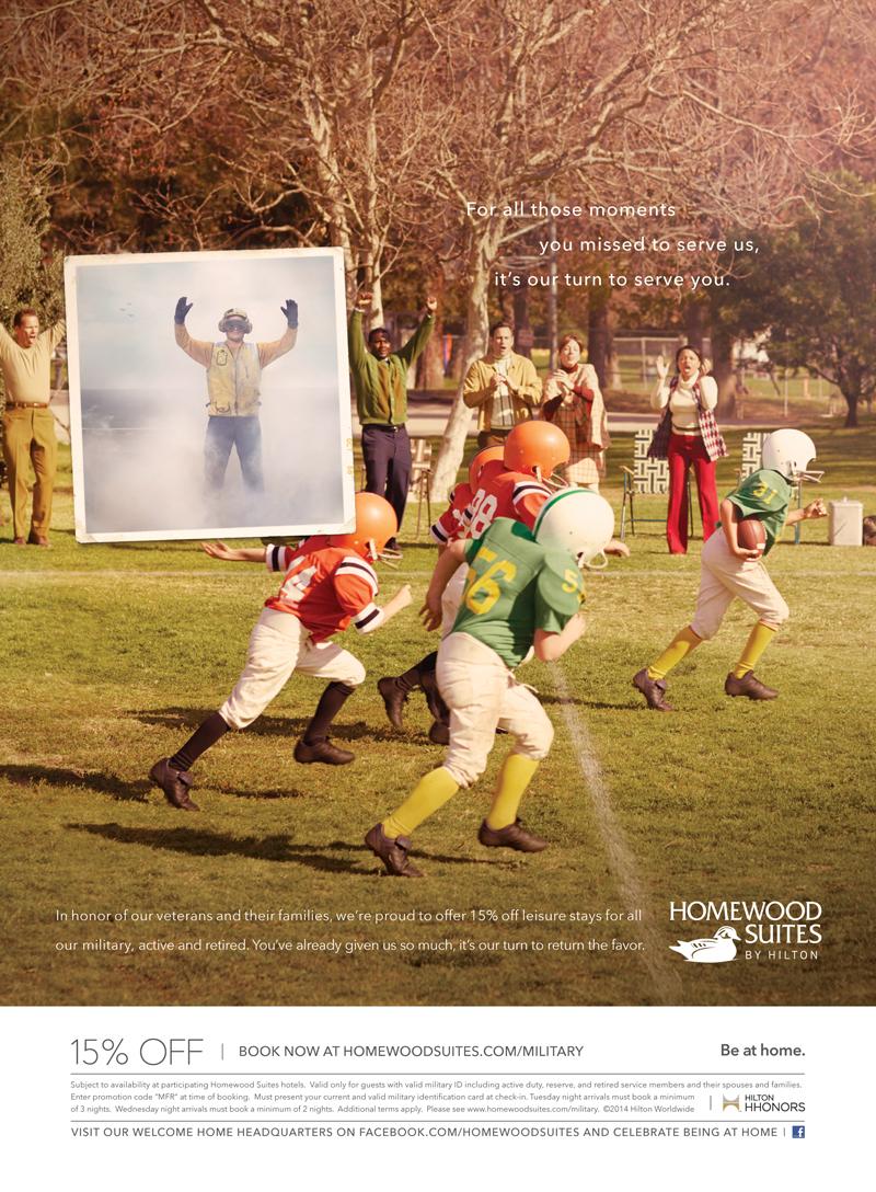 Hilton Football Ad