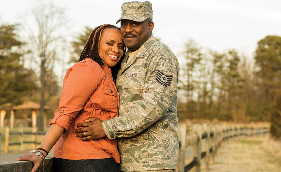 Military Spouse of the Year Alicia Hinds Ward Casual Shoot
