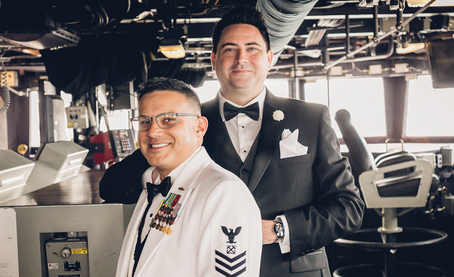 Military Spouse of the Year Brian Alvarado Formal