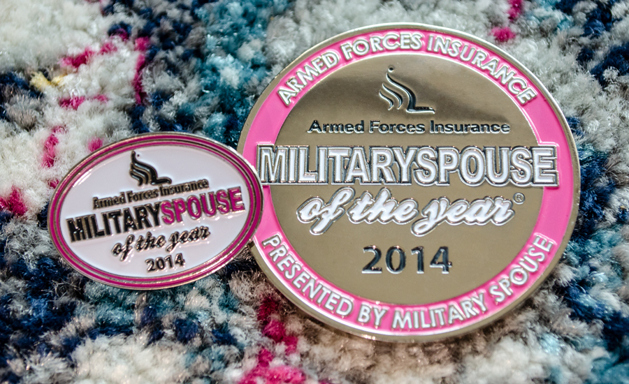 Armed Forces Insurance Military Spouse of the Year - Challenge Coin and Pin