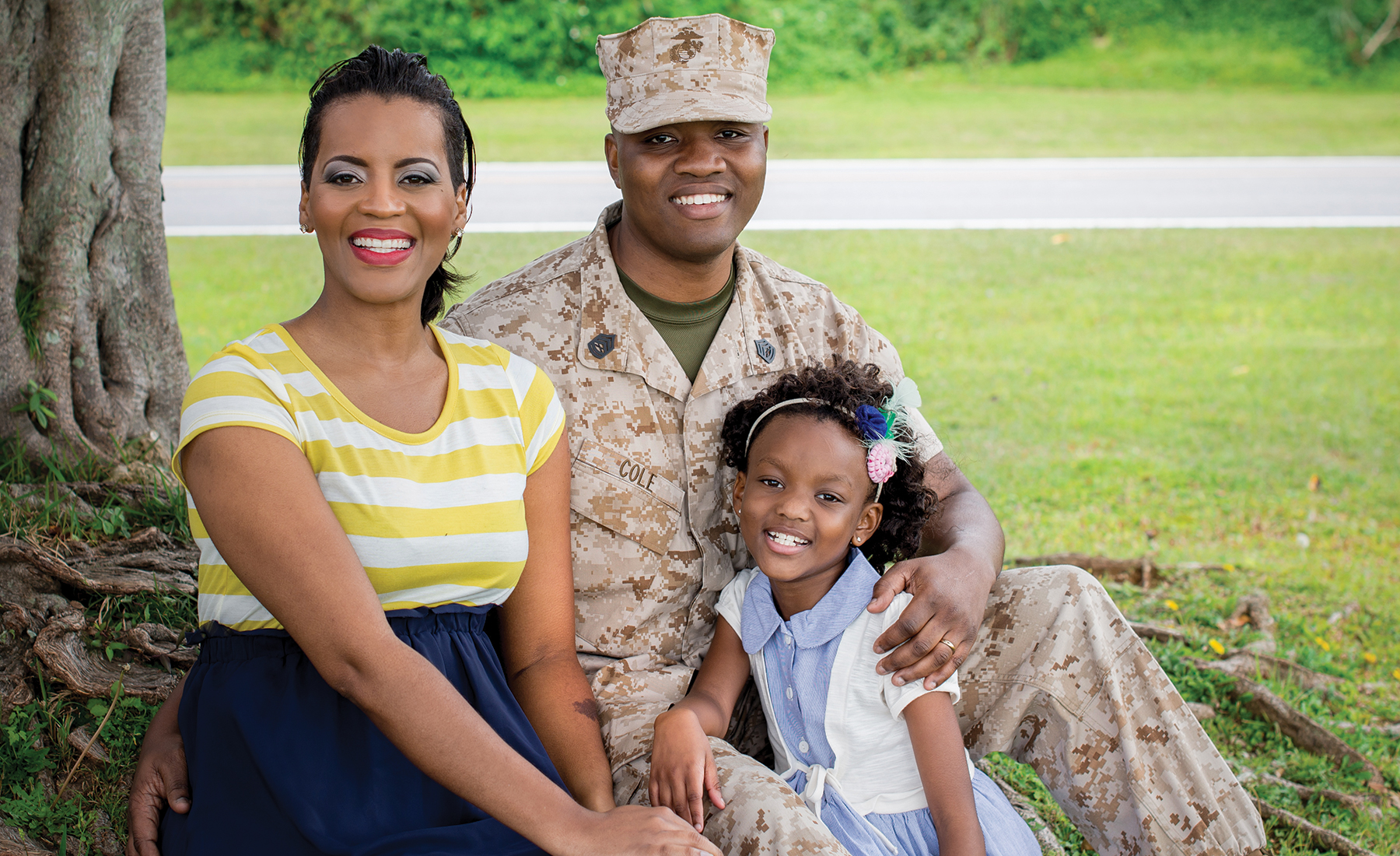 Military Spouse of the Year Lakesha Cole Casual Shoot