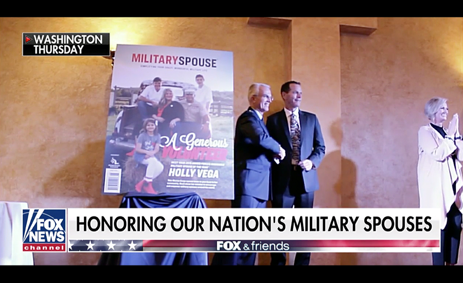 2019 Armed Forces Insurance Military Spouse of the Year Holly Vega being featured on Fox News.
