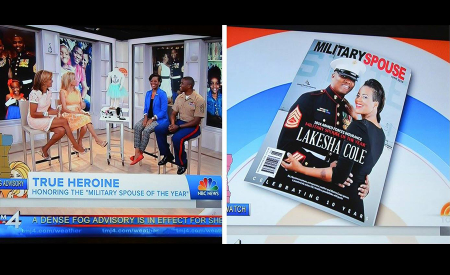 2014 Armed Forces Insurance Military Spouse of the Year¢ Lakesha Cole on the Today Show with Kathie Lee and Hoda
