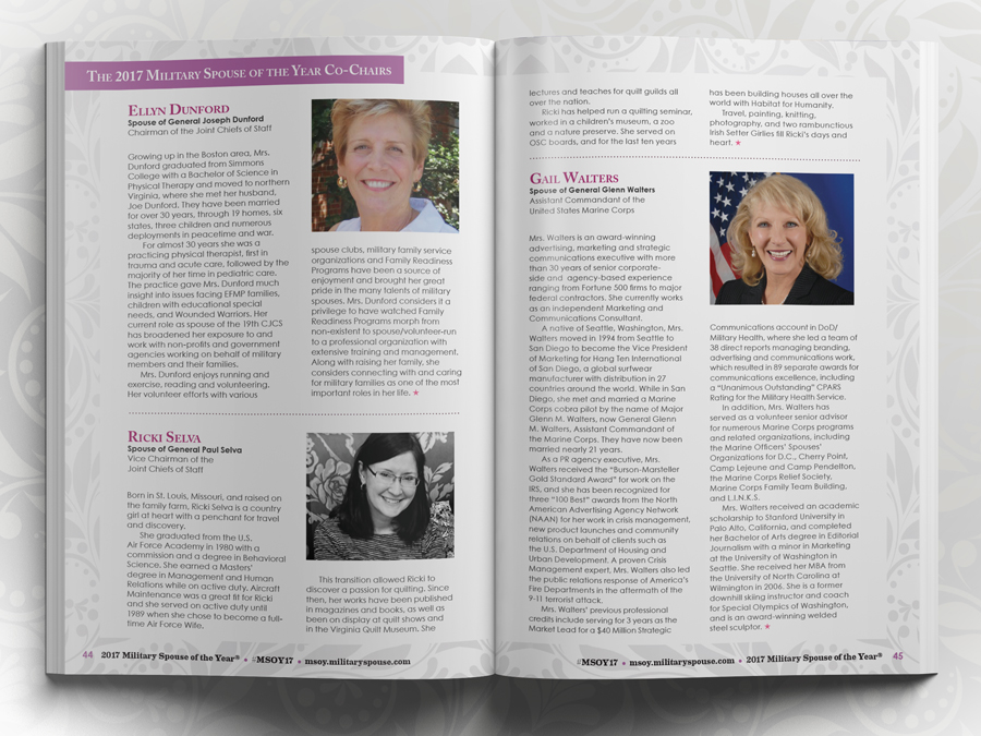 AFI Military Spouse of the Year Program Guide - Spouses of the Joint Chief of Staff