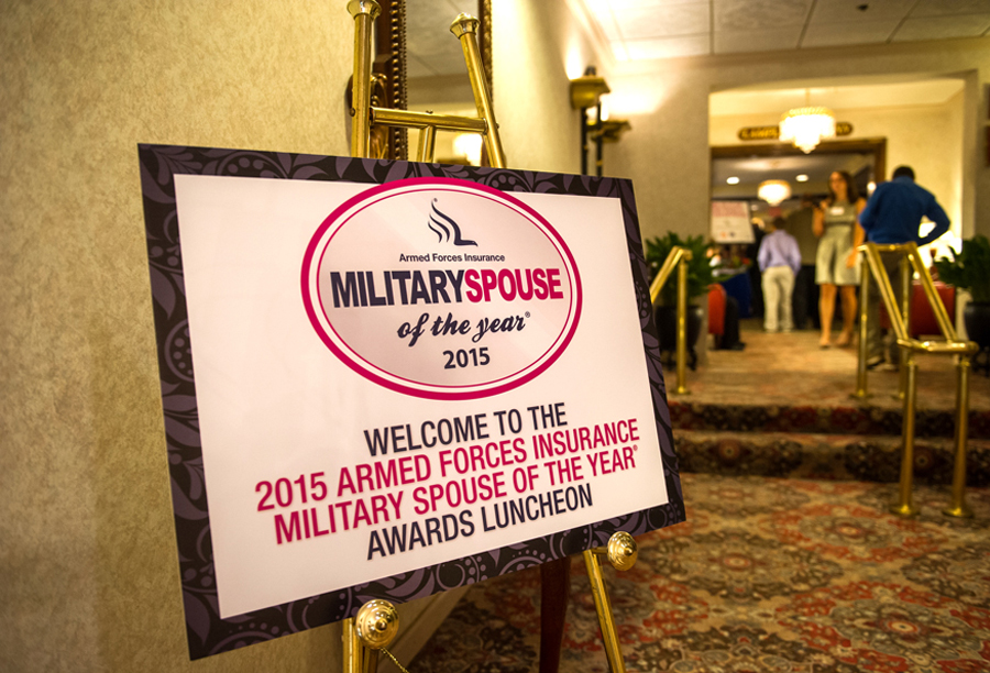 Armed Forces Insurance Military Spouse of the Year Welcome Signage