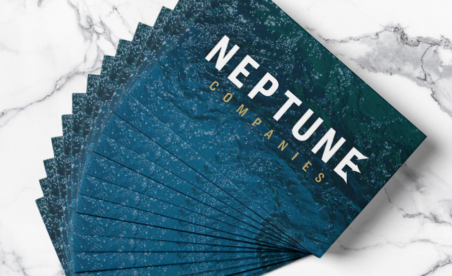 Back of Neptune Companies' Business Card