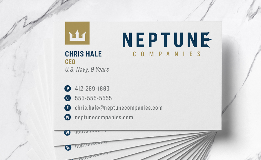 Front of Neptune Companies' Business Card