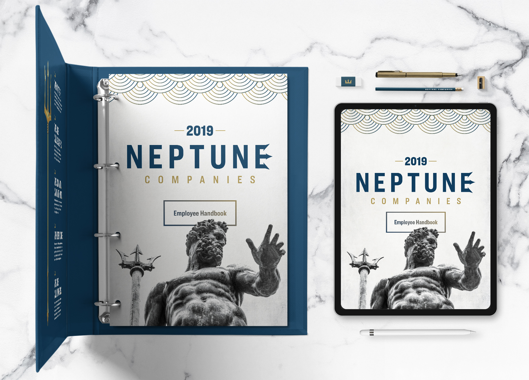 Neptune Companies Handbook - Cover and iPad