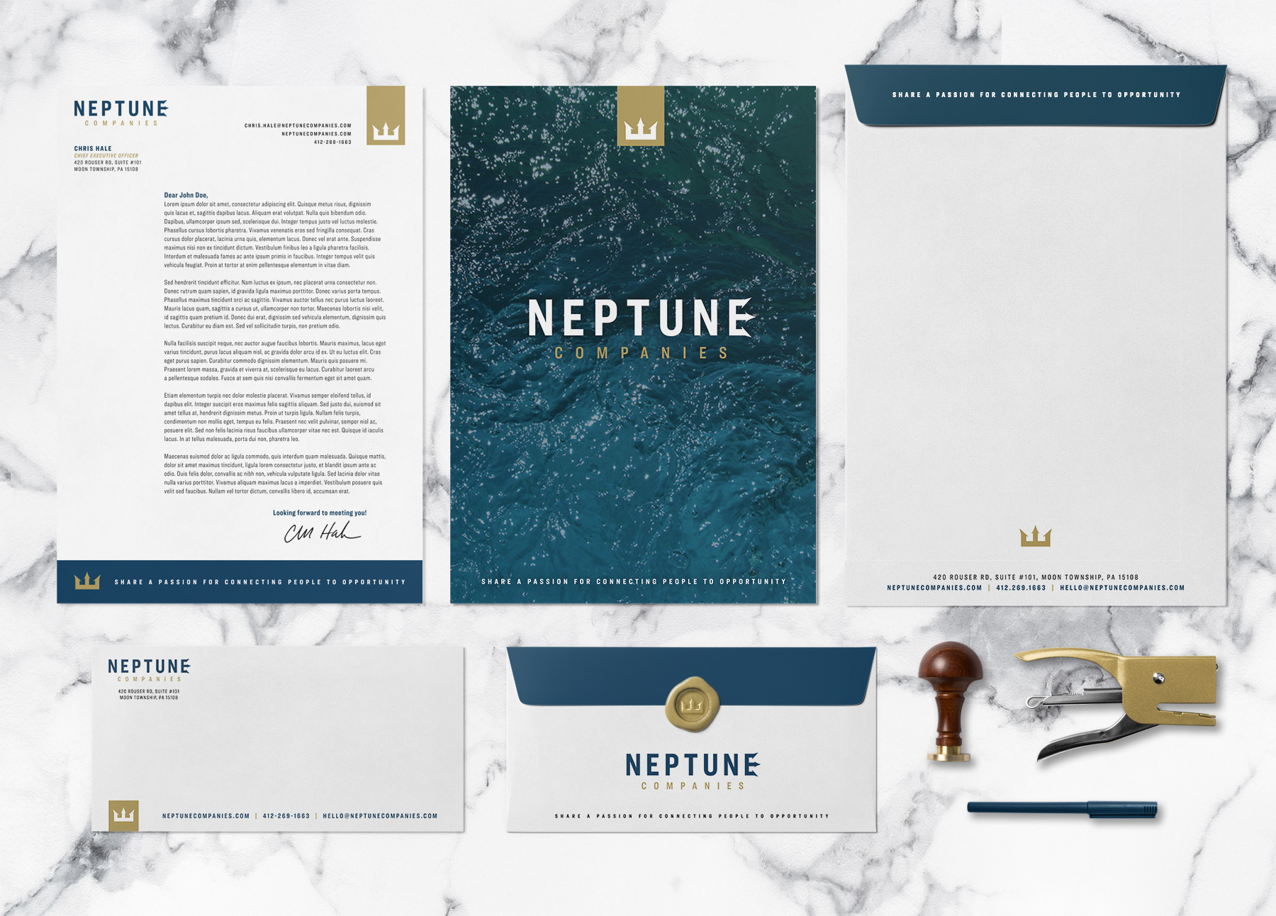 Neptune Companies' Stationary