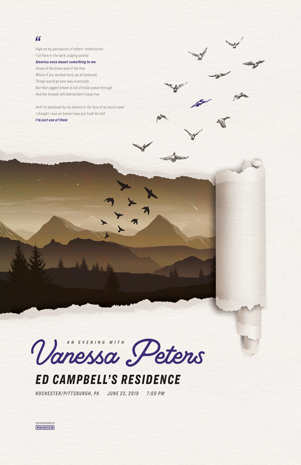 Vanessa Peters Gig poster - Maiocco Design Co.