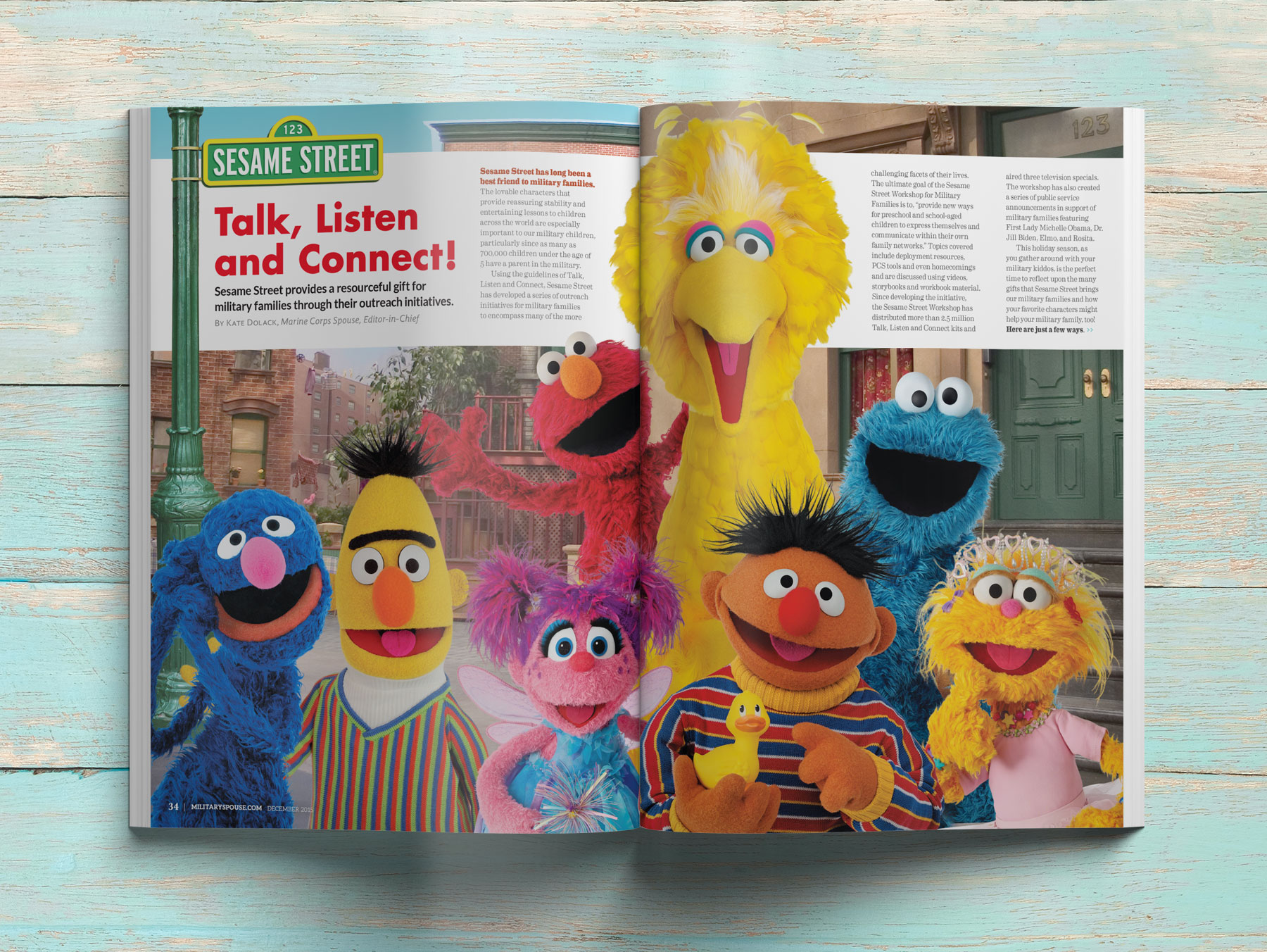 Sesame Street Military Spouse Magazine Spread - 1