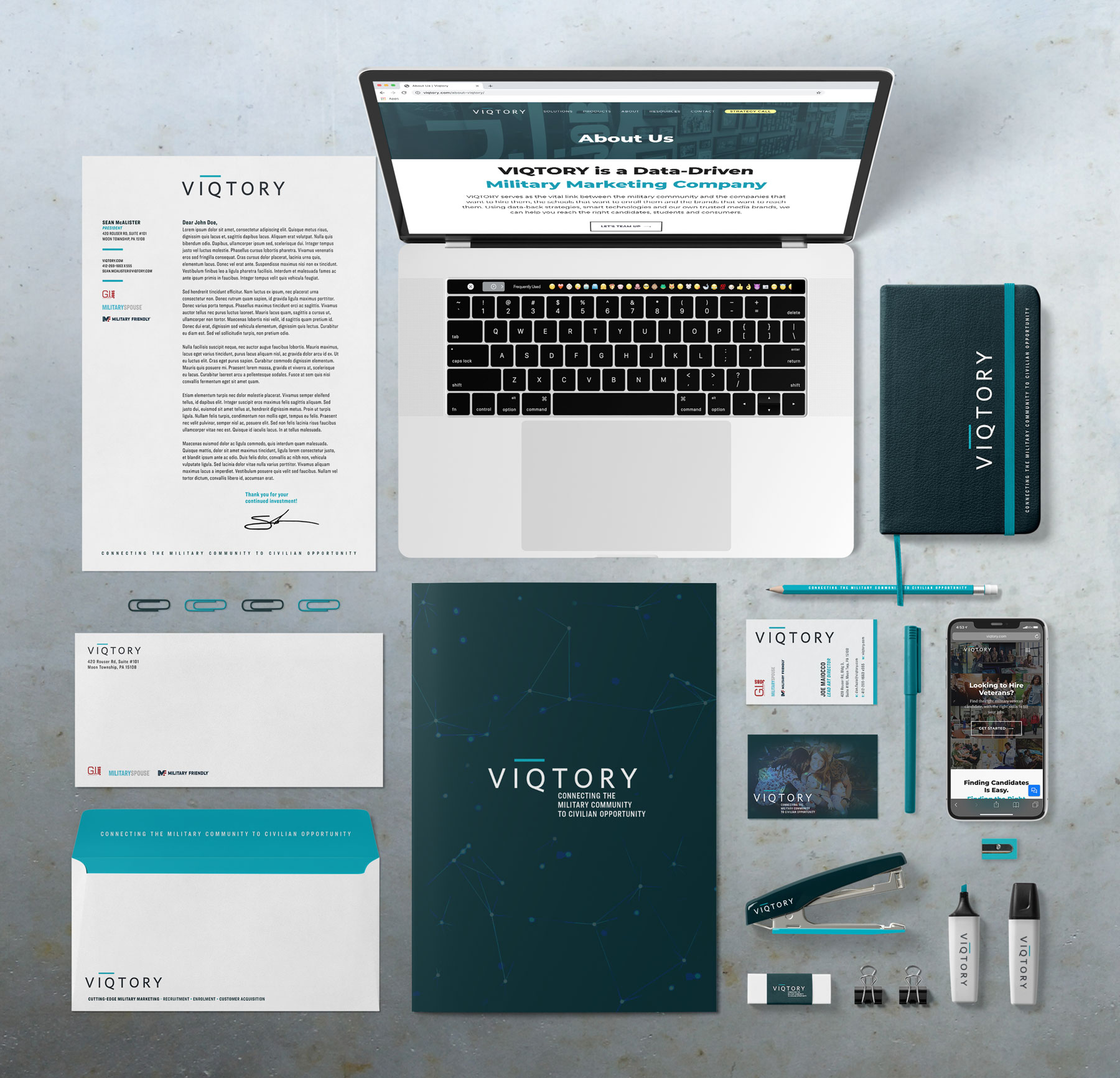 VIQTORY Stationary and Office Branding