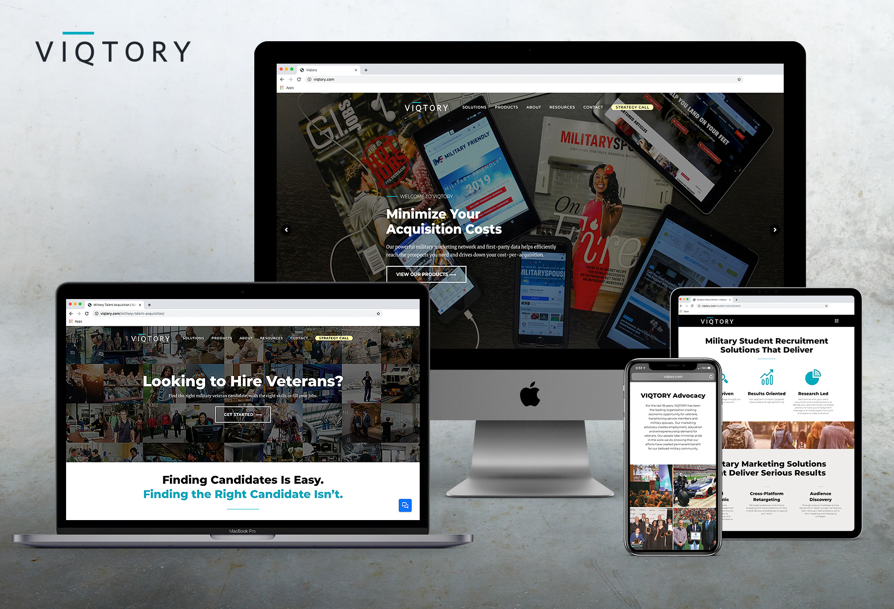 VIQTORY Website Mock
