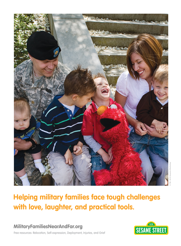 Sesame Street Military Family Ad