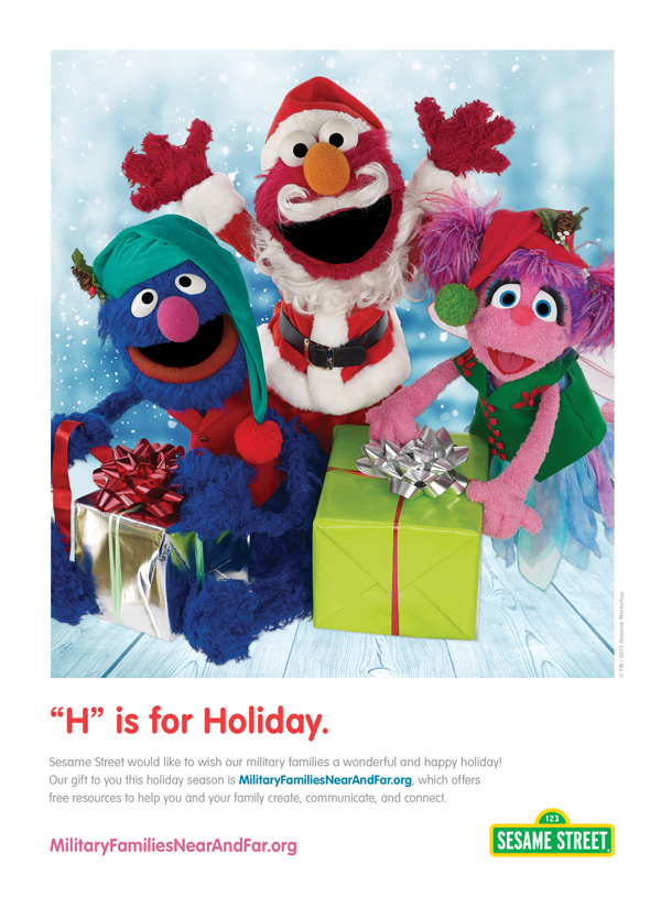 Sesame Street H is for Holiday Ad