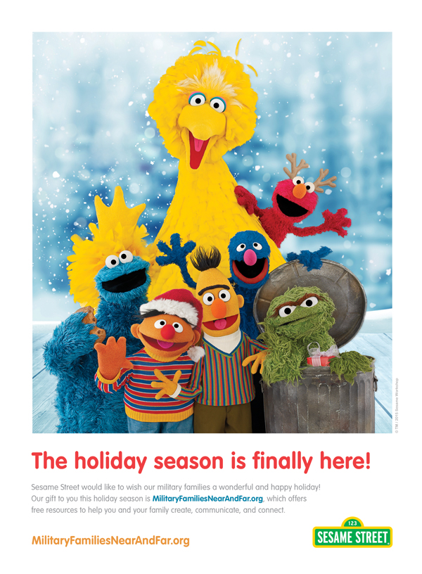 Sesame Street Holiday Season Ad
