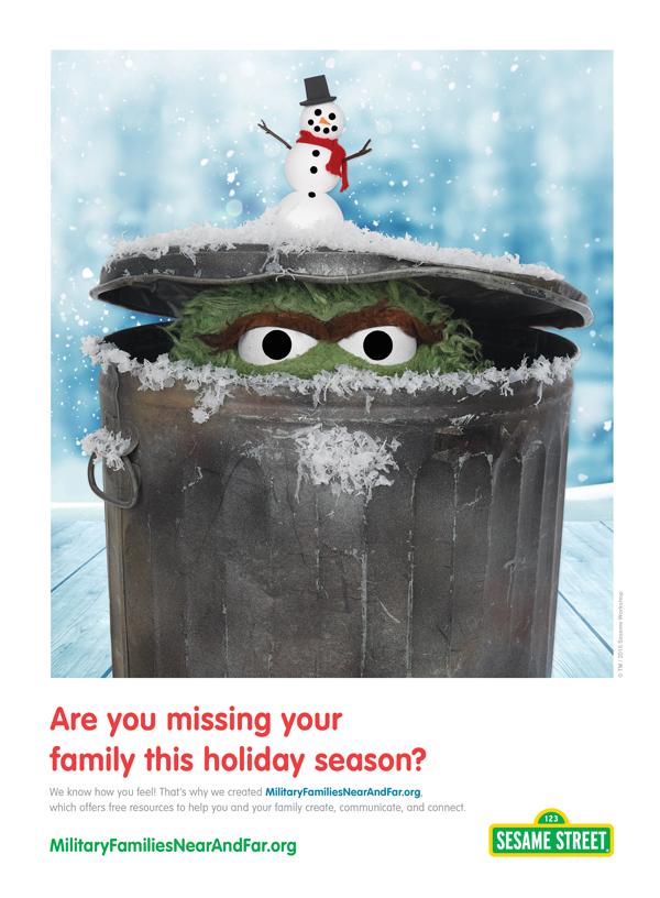 Sesame Street Oscar Holiday Ad